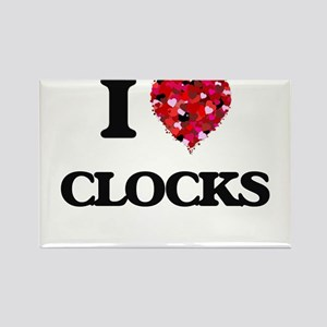 I love Clocks Magnets