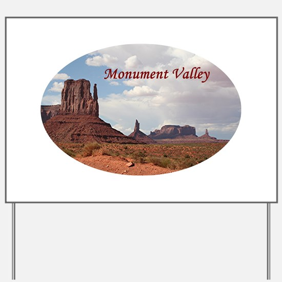 Monument Valley, Utah, USA 3 (oval capti Yard Sign