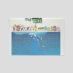 The Ten Fishmandments Rectangle Magnet