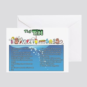The Ten Fishmandments Greeting Card