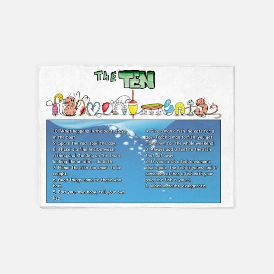 The Ten Fishmandments 5'x7'Area Rug