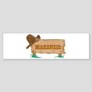 Makenzie western Bumper Sticker