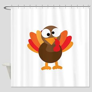 Funny Turkey Shower Curtain
