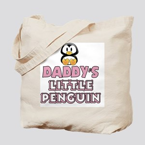 Daddy's Little Penguin Tote Bag