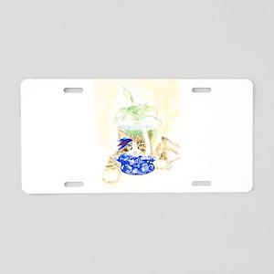 Beta Fish and Cat Aluminum License Plate