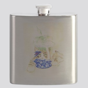 Beta Fish and Cat Flask