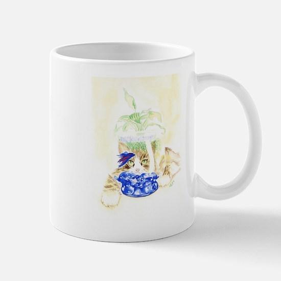 Beta Fish and Cat Mugs