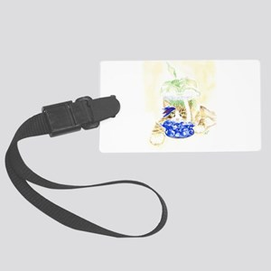 Beta Fish and Cat Luggage Tag