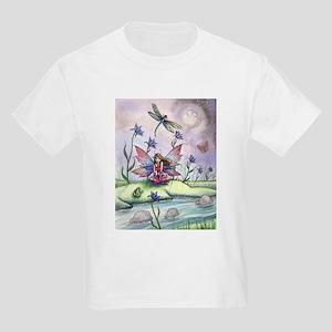 Magic at Dusk Fairy Dragonfly and Frog Ill T-Shirt