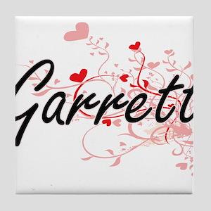 Garrett Artistic Design with Hearts Tile Coaster