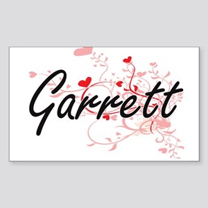 Garrett Artistic Design with Hearts Sticker