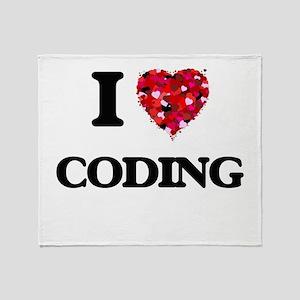 I love Coding Throw Blanket