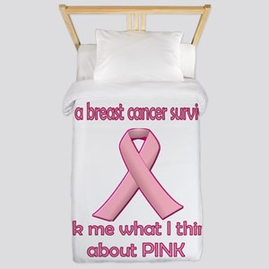Ask a Breast Cancer Survivor about Pink Twin Duvet