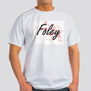 Foley Artistic Design with Hearts T-Shirt
