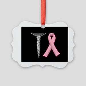 Screw Breast Cancer! Picture Ornament
