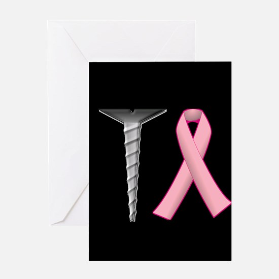 Screw Breast Cancer! Greeting Cards
