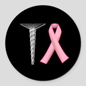 Screw Breast Cancer! Round Car Magnet