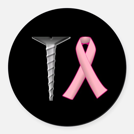 Screw Breast Cancer! Round Car Magnet