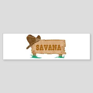 Savana western Bumper Sticker