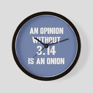 Opinion Sans Pi Wall Clock