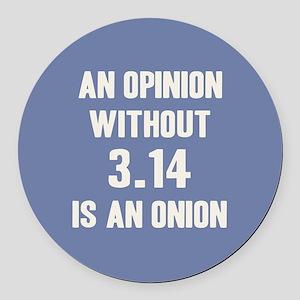 Opinion Sans Pi Round Car Magnet