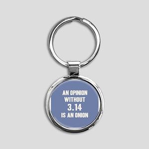 Opinion Sans Pi Round Keychain