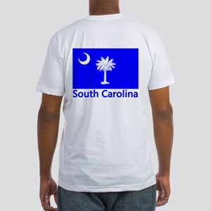 South Carolina Flag Fitted T-Shirt