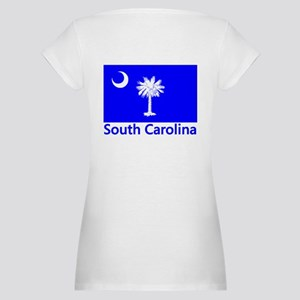 South Carolina Flag Maternity T-Shirt