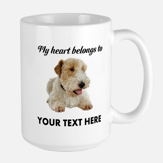 Custom Wire Fox Terrier Large Mug