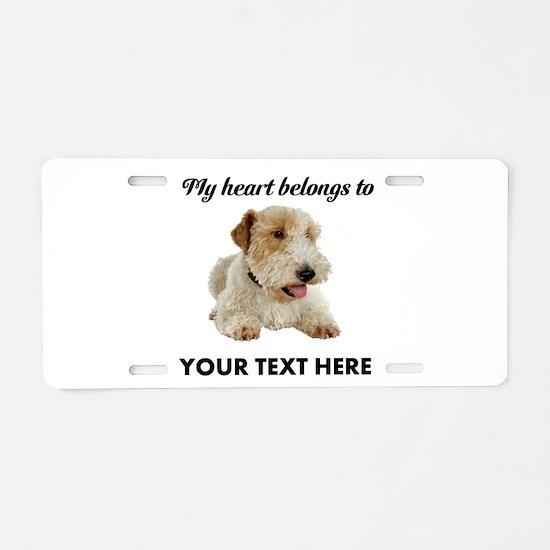 Custom Wire Fox Terrier Aluminum License Plate