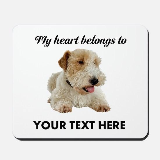 Custom Wire Fox Terrier Mousepad