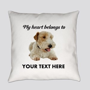 Custom Wire Fox Terrier Everyday Pillow