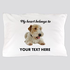 Custom Wire Fox Terrier Pillow Case