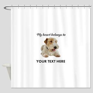 Custom Wire Fox Terrier Shower Curtain