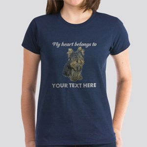Custom Yorkshire Terrier Women's Dark T-Shirt