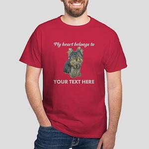 Custom Yorkshire Terrier Dark T-Shirt
