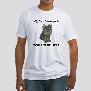 Custom Yorkshire Terrier Fitted T-Shirt