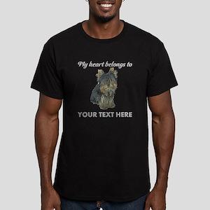 Custom Yorkshire Terri Men's Fitted T-Shirt (dark)