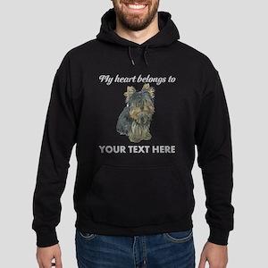 Custom Yorkshire Terrier Hoodie (dark)