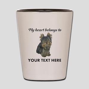 Custom Yorkshire Terrier Shot Glass