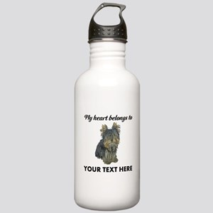 Custom Yorkshire Terri Stainless Water Bottle 1.0L