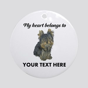 Custom Yorkshire Terrier Ornament (Round)