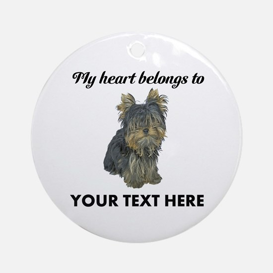 Custom Yorkshire Terrier Ornament (Round)