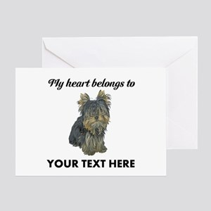 Custom Yorkshire Terrier Greeting Card