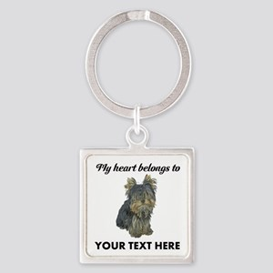 Custom Yorkshire Terrier Square Keychain