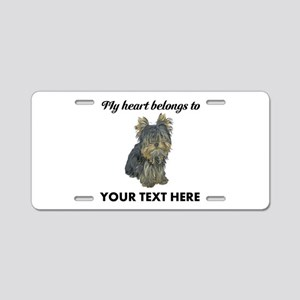 Custom Yorkshire Terrier Aluminum License Plate