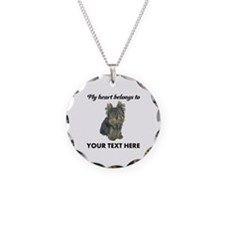Custom Yorkshire Terrier Necklace Circle Charm