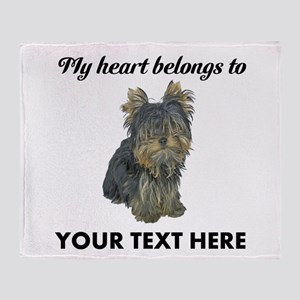 Custom Yorkshire Terrier Throw Blanket