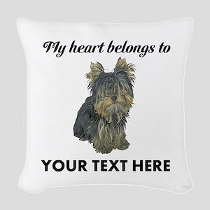 Custom Yorkshire Terrier Woven Throw Pillow
