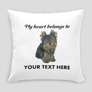 Custom Yorkshire Terrier Everyday Pillow